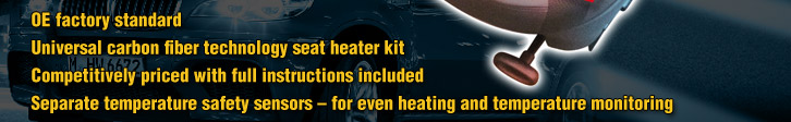 Universal carbon fibre technology seat heater kits for BMW vehicles